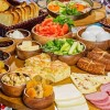 Antik havan doğal ürünler, kahvaltı ve yemekler